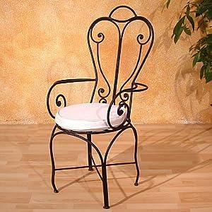 marokkanischer eisenstuhl lavid mediterraner gartenstuhl metall orientalischer stuhl. Black Bedroom Furniture Sets. Home Design Ideas