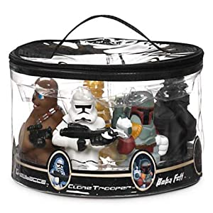 Disney Star Wars Theme Park Exclusive Set Of 7 Character Bath Toys Figures