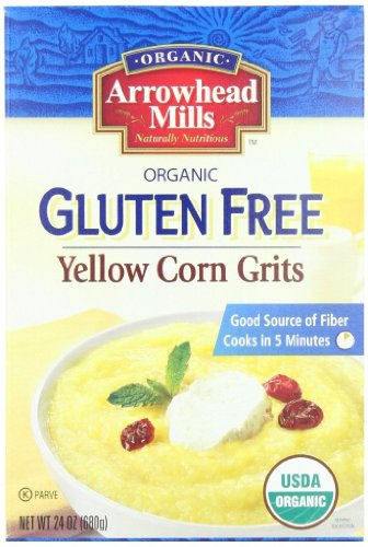Arrowhead Mills Organic Gluten Free Yellow Corn Grits, 24 Ounce (Pack of 12) (Corn Grits compare prices)