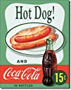 Hot Dog and Coca Cola Coke Combo 15 Cents Retro Vintage