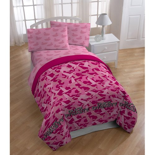 Pink Camouflage Bedding 3794 front