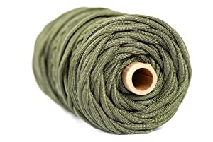 Paracord / Parachute Cord - 750lb Mil-C-5040-H Type IV - 200Ft. Color = Camo Green. This is the actual parachute cord used by the US Military. It is the Best Paracord available to the public and made by a US Government Certified Manufacturer. This Paracord is rated to 750 pounds (beating the average