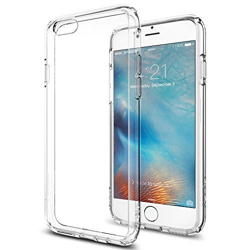 iPhone 6s Case, Spigen® [Ultra Hybrid] AIR CUSHION [Crystal Clear] Clear back panel + TPU bumper for iPhone 6 (2014) / 6s (2015) - Crystal Clear (SGP11598)
