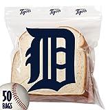 Spectrum 5815-10011 MLB Plastic Detroit Tigers Sandwich Press To Close Bag (Pack Of 50)