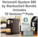Verismo® System 580 by Starbucks® BUNDLE (Includes 70 VerismoTM Pods) - Piano Black