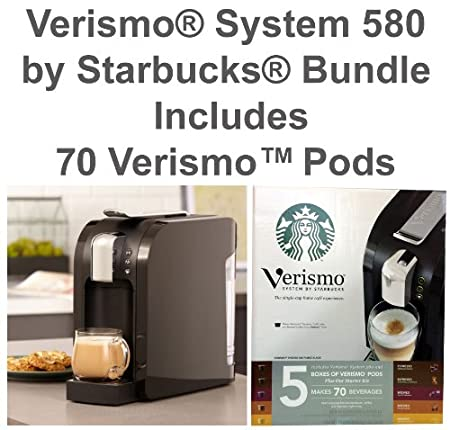 Coffee Maker Verismo® System 580 by Starbucks® BUNDLE (Includes 70 VerismoTM Pods Review