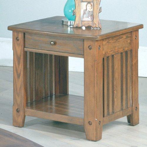 Cheap Dark Oak End Table (Dark Oak) (25″H x 25″W x 27″D) (TAB#13-01)