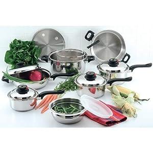 Chef's Secret 15-Piece Element Stainless-Steel Cookware Set