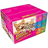 Friskies Gravy Sensations Pouch Favorites, 6-Flavor Variety Pack, 3-Ounce Pouches (Pack of 24) ~ Friskies