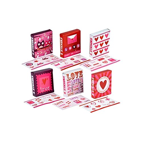 Valentine's Sticker Gift Boxes, 18-ct. Packs