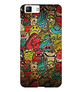 EPICCASE Demon Pattern Mobile Back Case Cover For Vivo X5 (Designer Case)