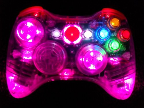 Xbox 360 Modded Controller (Rapid Fire Mod) COD BLACK OPS 2 MW3 MW2 Pink LEDs