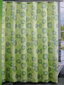 Victoria Classics 39 Halo Dot Polyester Shower Curtain 72 X 72 And 12 Resin Hooks