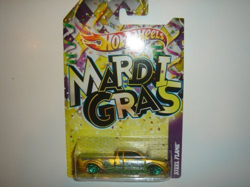 2012 Hot Wheels Mardi Gras Steel Flame Gold/Green