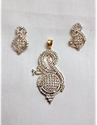 Sabhyata Gifts & Fashions White Brass Pendant Pendant Set For Women - B00QMBP39O