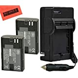 BM Premium Pack of 2 LP-E6, LP-E6N Replacement Batteries And Charger Kit For Canon EOS 60D, EOS 60Da, EOS 70D, EOS 5D II, EOS 5D III, EOS 5Ds, EOS 6D, EOS 7D, EOS 7D Mark II Digital SLR Camera