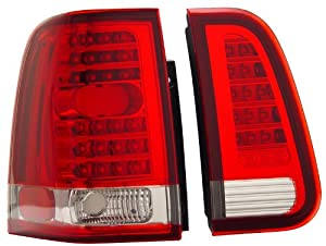 Lincoln Navigator 03-06 L.E.D Tail Lamps / Lights 4 Pcs Red/Clear Euro Performance