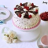 Amazy Tortenplatte - Drehbarer und neigbarer Tortenständer zum Dekorieren und Servieren von Torten und Kuchen (ø 23 cm) -