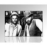 Bild auf Leinwand Bud Spencer und Terence Hill Bild 120x80cm k. Poster / Bild fertig auf Keilrahmen ! Pop Art Gemälde Kunstdrucke, Wandbilder, Bilder zur Dekoration - Deko. Film / Movie / Tv Stars Kunstdrucke