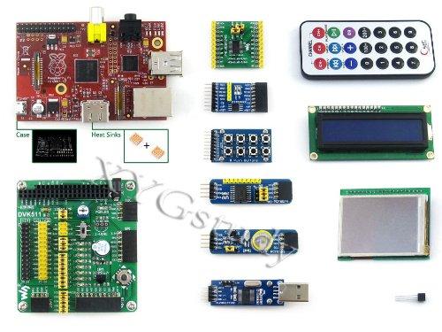 [Package B] Raspberry Pi Cn Ver. 2.0 Model B 512Mb Arm11 Linux Development Board + Dvk511+2.2'' Lcd+ Lcd1602 + Various Modules @Xyg