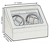 Quad Automatic Watch Winder Two Turntable With 4 Timer Settings.