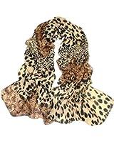 Sexy Large Animal Leopard Print Chiffon Shawl Scarf Long Stole Wrap