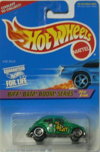"Hot Wheels Biff! Bam! Boom! Series #4 of 4 VW Bug #543 on ""Coolest to Collect"" Card Variation"