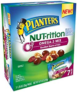 Planters Nutrition Omega Mix 7 pouches, 1.25-Ounce (Pack of 3)