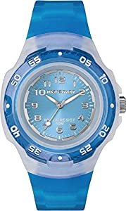 Timex Ironman Children's Quartz Watch with Blue Dial Analogue Display and Blue Resin Strap - T5K365
