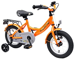 Bikestar 12 inch (30.5 cm) Kids Children Boys Bike Bicycle Classic - Orange by Bikestar