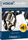 Voice Reader Studio 15 English (American) - Professional Text-to-Speech Software (TTS) for Windows PC / Convert any text into audio / Natural sounding voices / Create high-quality audio files / Large variety of applications: E-learning; Enrichment of training documents or advertising material; Traffic announcements, Telephone information systems; Voice synthesis of documents; Creation of audio books; Support for individuals with sight disability or dyslexia / Pronunciation can be customized via user dictionaries / Cost-efficient alternative to recording studios / Available in 45 languages / Direct Integration in Microsoft® Word, Outlook and Power Point / This version contains 4 female voices and 1 male voice