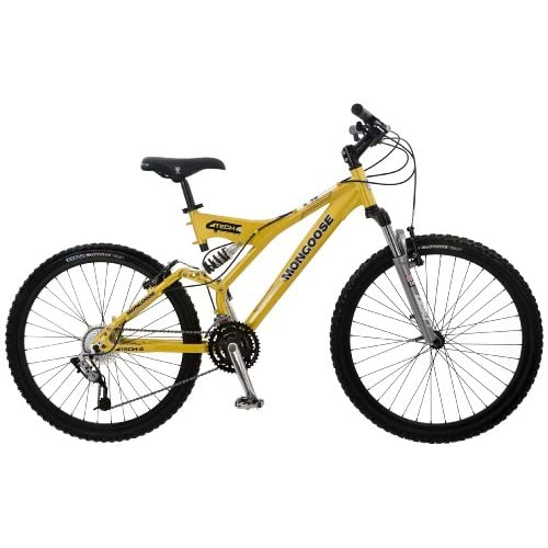 Mongoose Tech 4 Men's Dual-Suspension Mountain Bike (26-Inch Wheels