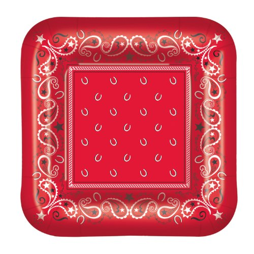 Bandana Plates (square-shaped)    (8/Pkg)
