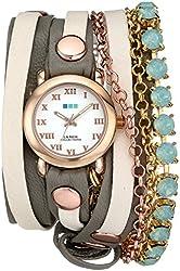 "La Mer Collections Women's LMMULTI5002 ""St. Tropez"" Rose Gold-Tone Wrap Bracelet Watch"