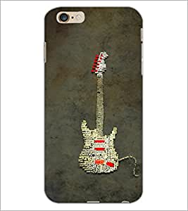PrintDhaba Typographic Guitar D-3857 Back Case Cover for APPLE IPHONE 6S (Multi-Coloured)