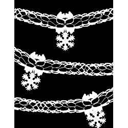 9ft White Snowflake Garland Decoration For Frozen Party (DP84) by Christmas Shop