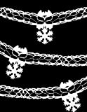 9ft White Snowflake Garland Decoration For Frozen Party (DP84)