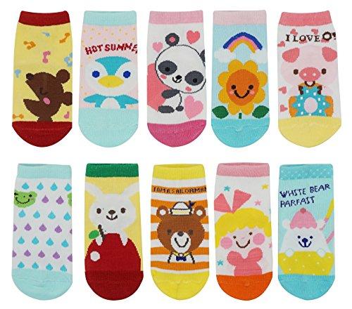 10 Pair Baby Toddler Anti Slip Skid Socks Age 1-3