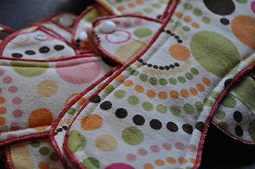 Natural Cotton Reusable Cloth Pads - Panty Liners / Light Days Set of 10 Variety Pack -Variety Pack