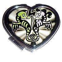 Kreepsville 666 Xray Seahorse Heart Compact Mirror