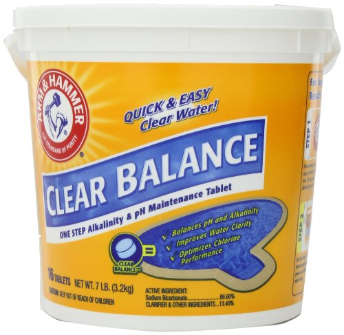 Arm & Hammer Clear Balance Pool Maintenance Tablets, 16 Count, 7 Lbs front-314741