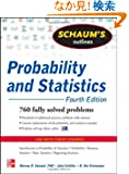 Schaum's Outline of Probability and Statistics, Fourth Edition (Schaum's Outline Series)
