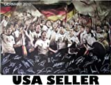 Germany soccer team 2010 riotous POSTER 34 x 23.5 German football World Cup (sent FROM USA in PVC pipe)