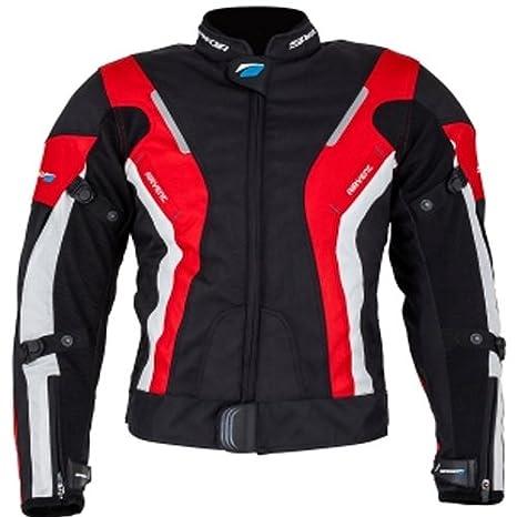 Spada moto Textile veste courbe WP dames noir/rouge