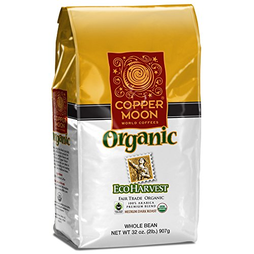 Copper Moon Coffee Eco Harvest Fair Trade Organic, Whole Bean, 2 Pound (Caribou Decaf Coffee Whole Bean compare prices)