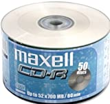 Maxell CD-R80XL - 50 x CD-R - 700 MB ( 80min ) 52x - spindle - storage media