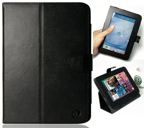 Black Melrose PU (Faux) Leather Case for Amazon Amazon Kindle Fire HD 7