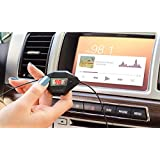 Okra® In Car Universal Wireless FM Transmitter & Hands-free Calling with USB Car Charger For iPhone, Samsung, Motorola, Nokia , Lg , And ALL Smartphones GPS MP3 Mp4 Audio Player with 3.5mm Audio In Jack