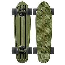 "Globe Bantam Authentic Vinyl Plastic Cruiser Skateboard Complete 24"" (Military/Black)"