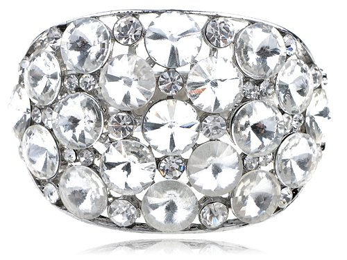 Chunky Large Ice Bling Crystal Rhinestone Statement Fashion Bracelet Bangle Cuff